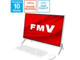 【12/10発売予定】 FMVF70E3W デスクトップパソコン ESPRIMO FH70/E3 ホワイト [23.8型 /SSD:512GB /メモリ:8GB /2020年冬モデル]