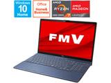 ノートパソコン LIFEBOOK AH76/F1 メタリックブルー FMVA76F1LB [15.6型 /AMD Ryzen 7 /SSD:512GB /メモリ:8GB /2021年春モデル]