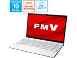 ノートパソコン LIFEBOOK AH50/F プレミアムホワイト FMVA500FW1 [15.6型 /intel Core i7 /SSD:256GB /メモリ:8GB /2021年春モデル]