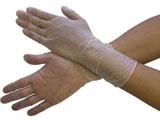 ブラストン PVC手袋ロング テクスチャータイプ(100枚入)Mサイズ BSC−4300−M