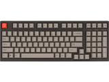 ARCHISS Maestro2S ゲーミング メカニカル スペースセービングフルキーボード 英語配列 黒ボディ・グレーキーキャップモデル スピードシルバー軸 AS-KBM98/LSGB