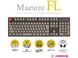 MaestroFL 日本語JIS配列 カナ有 スピードシルバー軸 メカニカル有線キーボード USB-A/USB-C対応 Win/Mac対応 108キー AS-KBM08/LSGBA