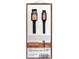 【在庫限り】 [ライトニング] ケーブル 充電・転送 2.4A (1m・ローズゴールド)MFi認証 UD-ALC100RG