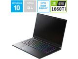 ゲーミングノートPC GCR1660TGF-QCB [Core i7・15.6インチ・メモリ 16GB・GTX 1660 Ti]