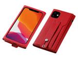 【09/下旬発売予定】 iPhone 11 6.1インチ 用 高級PUレザーケース<Clings> レッド DCS-IPC19MPURD
