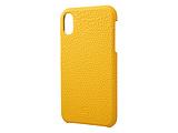 iPhone XR用 6.1 Shrunken-Calf Leather Shell GSC72558YLW