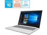 ノートPC Lenovo ideapad 320 80XL00MPJP ブリザードホワイト [Core i7・15.6インチ・Office付き・HDD 1TB・メモリ 4GB]