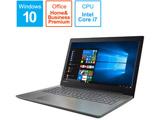 ノートPC Lenovo ideapad 320 80XL00MNJP オニキスブラック [Core i7・15.6インチ・Office付き・HDD 1TB・メモリ 4GB]