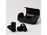 フルワイヤレス骨伝導イヤホン earsopen ブラック PEACE-TW-1 [リモコン・マイク対応 /骨伝導 /Bluetooth]