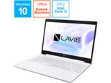 ノートパソコン LAVIE Note Standard カームホワイト PC-NS300N2W-H6 [15.6型 /intel Core i3 /HDD:500GB /メモリ:4GB /2021年1月モデル]