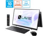 PC-A2377BAB デスクトップパソコン LAVIE A23(ダブルチューナ) ファインブラック [23.8型 /intel Core i7 /メモリ:8GB /SSD:1TB /2021年春モデル]