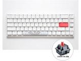 ゲーミングキーボード One 2 SF Pure White RGB 65% 赤軸(英語配列)  dk-one2-rgb-sf-pw-red [USB /有線]