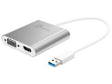 JUA360  USB3.0 to Dual VGA & HDMI マルチディスプレイ対応グラフィックアダプター [USB-A → VGA/HDMI]