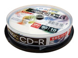 音楽用 CD-R 80分/10枚 【インクジェットプリンタ対応】 CDRMU8010SPA