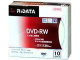 録画用 DVD-RW 1-2倍速 4.7GB 10枚 【インクジェットプリンタ対応】 DVDRW12010PSCA