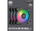 ケースファン[120mm / 1800RPM] MasterFan MF120 Halo 3 in 1 ブラック MFL-B2DN-183PA-R1