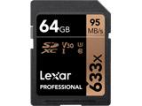Lexar Professional 633x SDXC UHS-I カード [64GB] LSD64GCB1AP633 / 最大で読込95MB/秒、書込45MB/秒