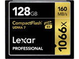 Lexar Professional 1066x Compact Flashカード [128GB] LCF128CRBAP1066 / 最大で読込160MB/秒、書込155MB/秒