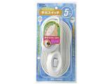 手元スイッチ (1個口・5m) WTS-500B-W ホワイト
