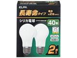 LW100V38W-W-2P 長寿命シリカ電球(40形/全光束440lm/E26口金/ホワイト/2個入り)