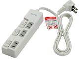 WLS-U31EB(W) スイッチ付タップ ランプレス 3個口 1m
