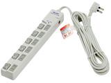 WLS-LU6500RMB LEDランプスイッチ付タップ ブレーカー付 上挿し 6個口 5m