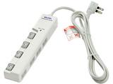 WLS-LY4200RS LEDランプスイッチ付タップ 横挿し 4個口 2m