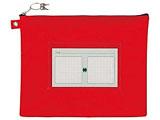 UNMA01-B4#19 (ケース/ノータム・鍵付きメールバッグレベルA/マチナシB4/サイズ:340×440×15mm/赤)
