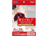 インクジェット用 印画紙 超厚手 2L判 20枚 JPSK22L20 [2L判 /20枚〜]