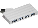 USB3.0ハブ[4ポート・バスパワー・Mac/Win] Digio2 ホワイト UH-3054W