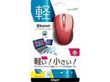 MUSBKT99R 無線マウス(BlueLED/Bluetooth/3ボタン/レッド) [Bluetoothマウス・ブルーLED方式]
