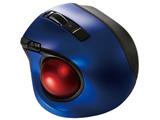 ワイヤレスレーザートラックボール[Bluetooth・Mac/Win] 静音・コンパクトモデル (5ボタン・ブルー) MUS-TBLF134BL