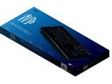 ワイヤレスキーボード[USB・Win]静音 110キー FKB-R245BK ブラック [日本語配列]
