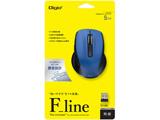 ワイヤレスBlueLEDマウス[USB・Win/Mac]Flineシリーズ Sサイズ 5ボタン MUS-RKF141BL ブルー [5ボタン]