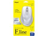 ワイヤレスBlueLEDマウス[Bluetooth・Win/Mac]Flineシリーズ Lサイズ 5ボタン MUS-BKF149W ホワイト [5ボタン]