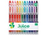 [ゲルインキボールペン] ジュース 12色セット(ボール径:極細0.5mm) LJU-120EF-12C