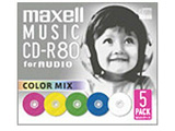 CDRA80MIX.S1P5S (音楽用CD-R/80分/5枚/カラーMIX)