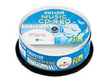 CDRA80WP.20SP (音楽用CD-R/80分/20枚/インクジェットプリンタ対応/ホワイト)