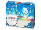 【在庫限り】 音楽用CD-R 80分/10枚【インクジェットプリンタ対応】【ホワイト】CDRA80WP.10S