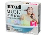 音楽用CD-R 80分/10枚【インクジェットプリンタ対応】【カラーミックス】   CDRA80PSM.10S