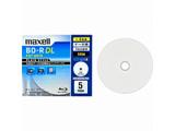 1-4倍速対応データ用ブルーレイディスクBD-R DL[PLAIN STYLE](50GB・5枚) BR50PPLWPB.5S