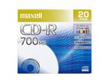 データ用 CD-R 48倍速対応 インクジェットプリンター対応(ノンワイド) 700MB 5mmPケース 20枚