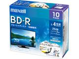 録画用BD-R 1〜4倍速 10枚 130分/1層25GB 【インクジェットプリンター対応】 BRV25WPE.10S