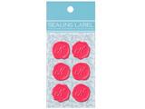 【在庫限り】 シーリングいろラベル「N」(名刺サイズ:1シート・6片/ピンク) ML102