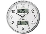 高精度温湿度計付電波掛時計 「インフォームナビF」 4FY618-019