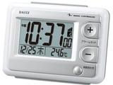 リズム時計 電波目覚まし時計 「ジャストウェーブR095DN」 8RZ095DN03