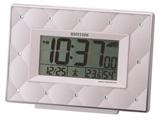 電波目覚まし時計 「フィットウェーブアビスコ」 8RZ167SR38(ベージュパール)