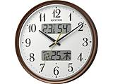 CITIZEN 電波掛時計  暗所自動ライト点灯 温度・湿度表示付 「フィットウェーブリブA04」 8FYA04SR06