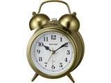 ベル音 目覚まし時計 「コールマンB06」 8RAA06SR63 金色イブシ仕上げ(白)