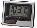 デジタル電波目覚まし時計 「フィットウェーブソーラーD215」 8RZ215SR19 シルバーメタリック